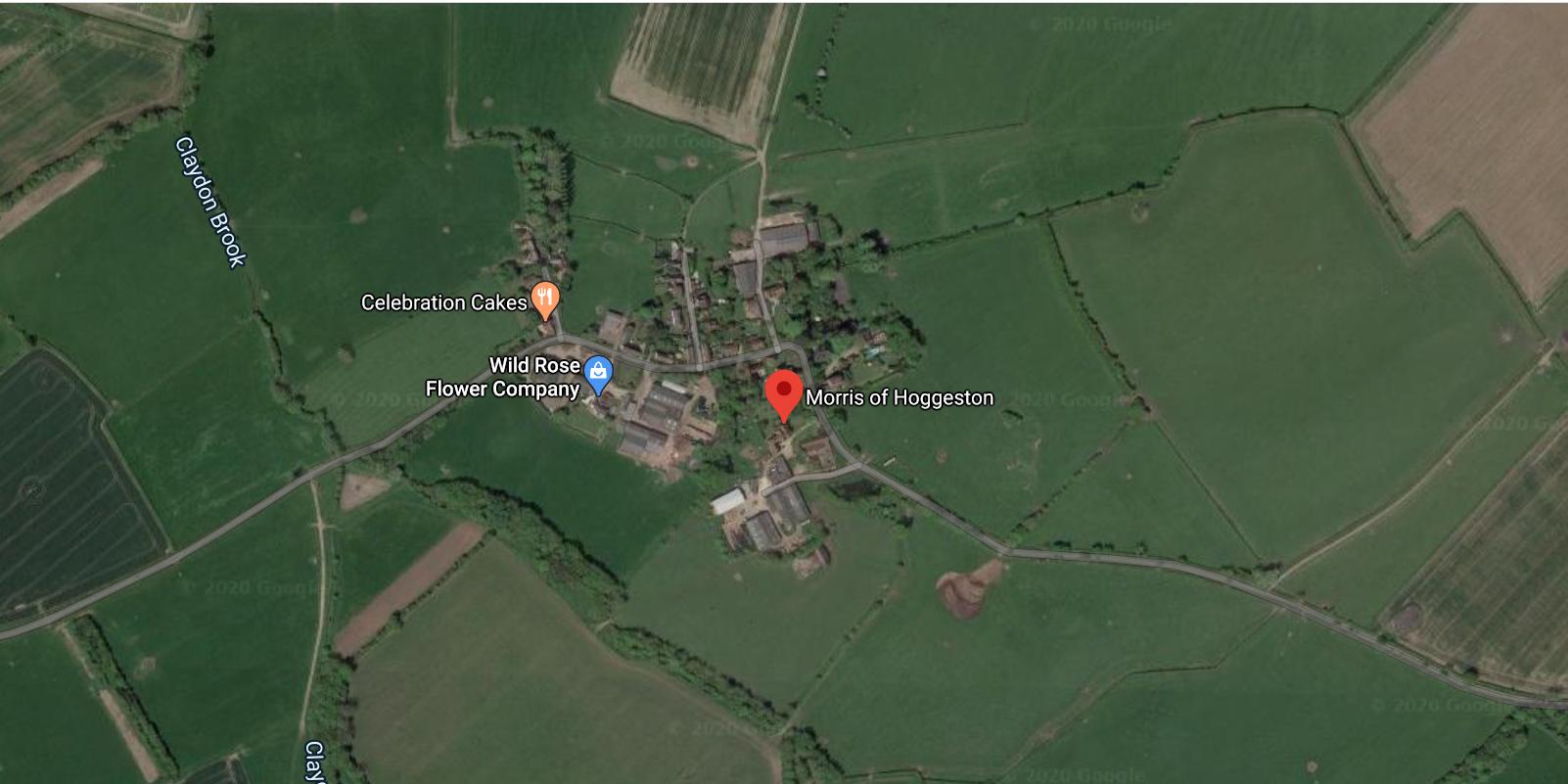 Morris of Hoggeston aerial image